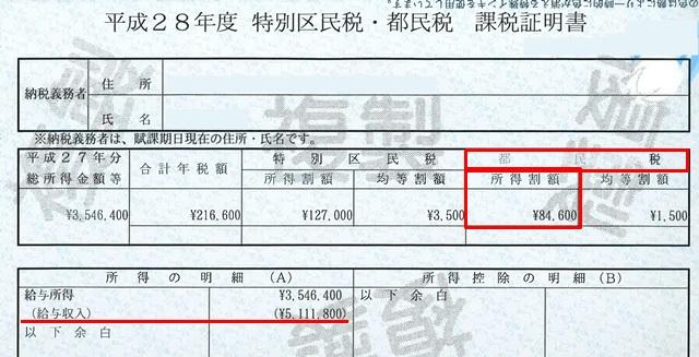 課税証明書 すまい給付金