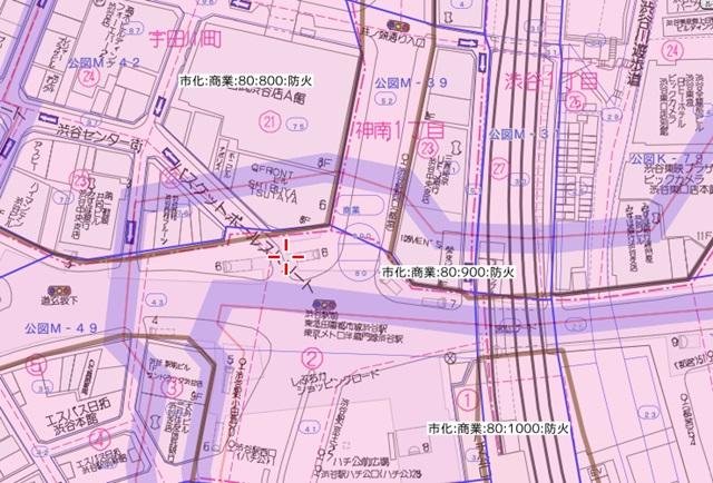渋谷用途地域、商業