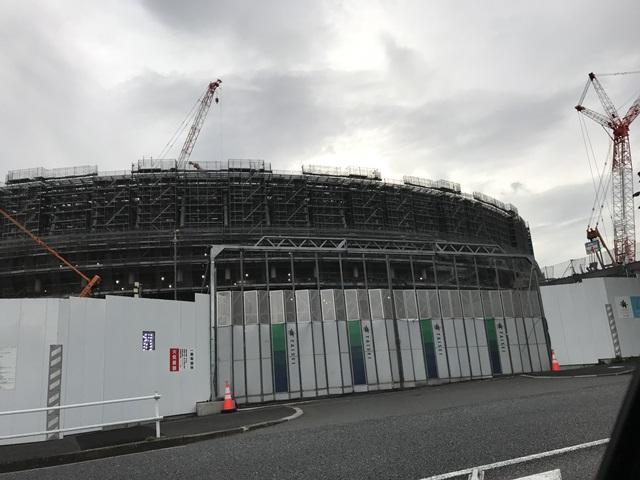 新国立競技場、工事、写真