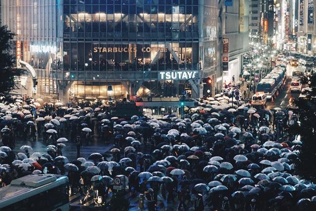 渋谷、スクランブル交差点