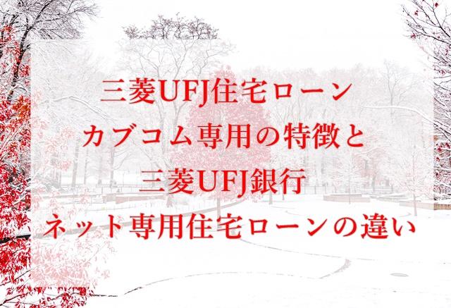 三菱UFJ住宅ローンカブコム専用、特徴