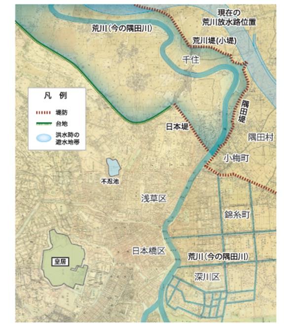 荒川放水路 地図